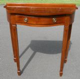 SOLD - Serpentine Front Yew Console Table